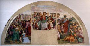 Raffaellino del Garbo, Multiplication des pains et des poissons, 1500