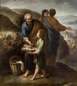 Le miracle des pains et des poissons, Juan de Espinal, 1750