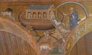 Arche de Noé, Mosaïque de la chapelle palatine de Palerme, XIIs.