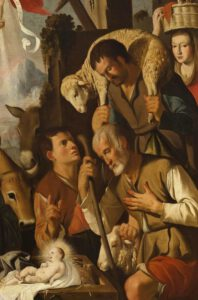 Adoration des bergers, Mateo Gilarte (Musée du Prado), détail,1651