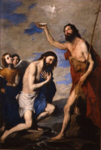 José de Ribera, le baptême du Christ, 1643