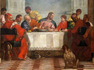 Paolo Veronese, Le repas chez Lévi (détail),1573