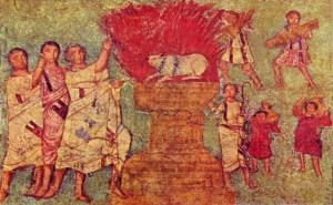Elie et les prophètes de Baal au Carmel, Doura Europos v.250