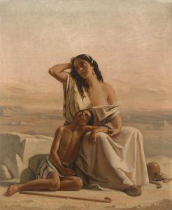 Luigi Alois Gillarduzzi, Agar et Ismaël au désert,1851