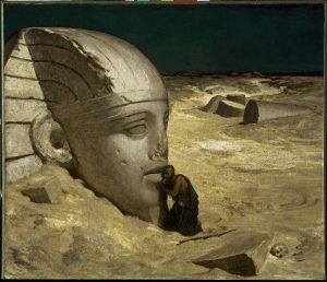 Elihu Vedder, la question au sphinx, 1836
