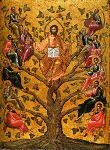 Christ, Vigne Vértiable, icône : Athènes, XVI°s.