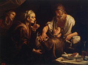Gioachino Assereto, Isaac bénissant Jacob, 1640