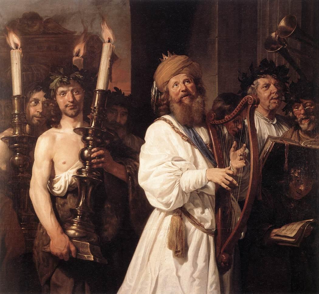 Jan de Bray, David jouant de la harpe, 1670