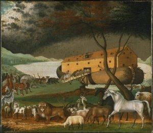 Edward Hicks, L'arche de Noé, 1846