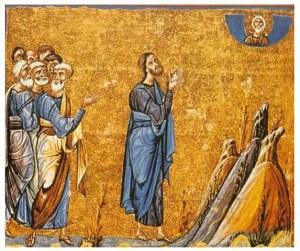 Mosaïque, Jésus en prière