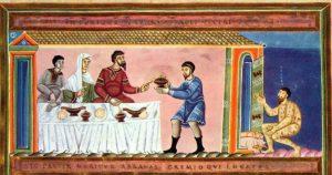 Codex Aureus Epternacensis, le riche et Lazare, 1035.