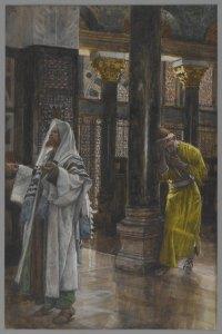 James Tissot, Le pharisien et le publicain, 1894