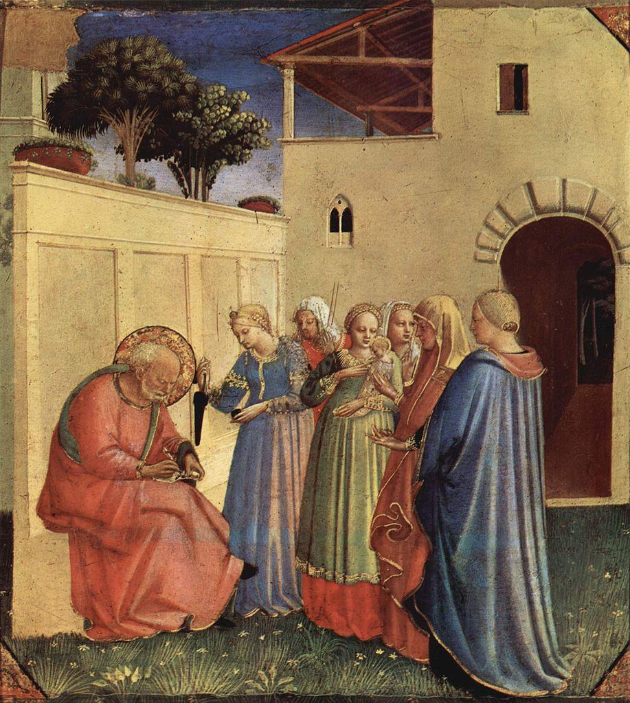 Fra Angelico, circoncision de Jean BAptiste, 1430