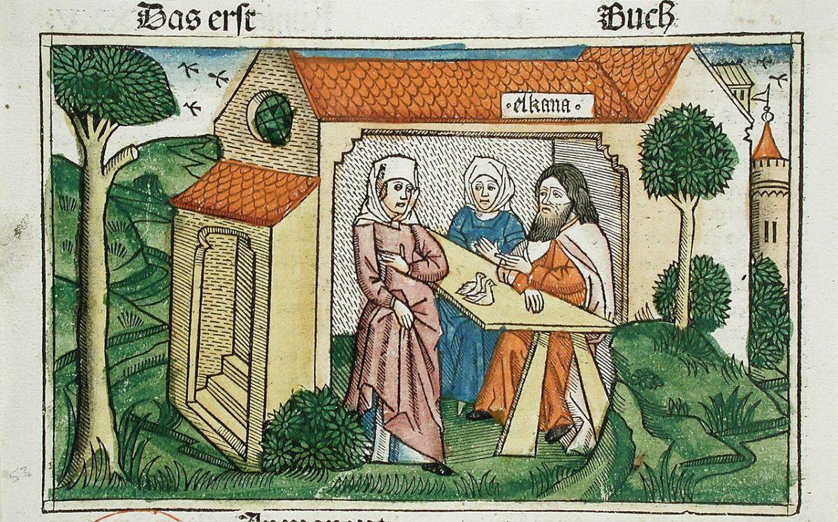 Bible de Cologne, 1483, Elkana, Anna et Peninna.