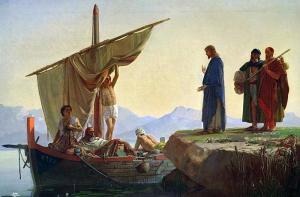 Edward Armitage, Christ appelant Jacques et Jean, 1850