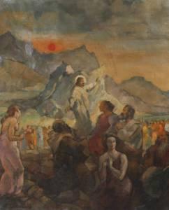 Friedrich Petersen, sermon sur la montagne, 1927