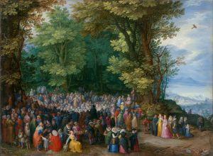 Jan Brueghel l'Ancien, Le sermon sur la montagne, 1598