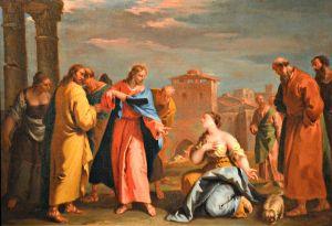 Sebastiano Ricci, Le Christ et la Cananéenne, XVIII°s