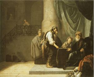Willem de Poorter's, la parabole des talents, XVIIe