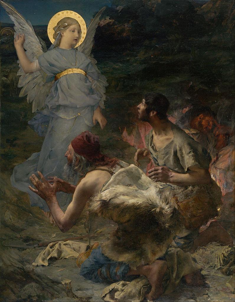 Jules Bastien Lepage, l'annonce aux bergers,1875