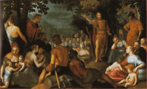 Adam van Noort, La prédication de Jean le baptiste,1601.