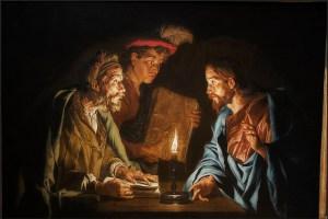 Matthias Stom, Le Christ t Nicodème, 1640