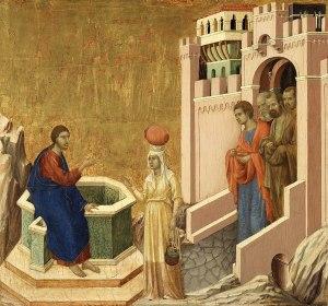 Duccio di Buoninsegna, Jésus et la Samaritaine, 1311