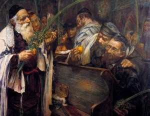 Sukkot In The Synagogue. Leopold Pilichowski (1869-1933).