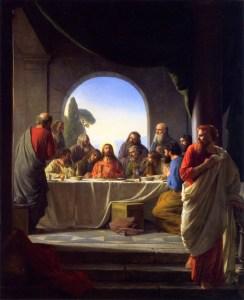 Carl Bloch, le dernier repas, XIXe s.