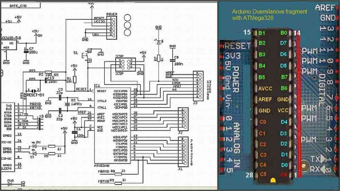 This Is A Schematic Of The Arduino Uno Board