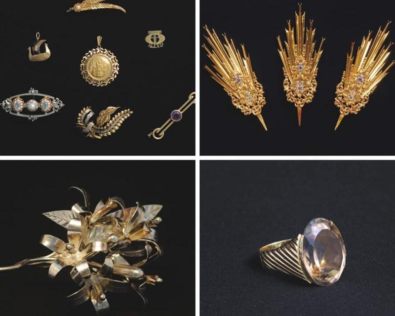 Algunas de las joyas robadas de La Sed