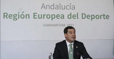 Juanma Moreno en la presentación de la candidatura