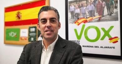 Juan Miguel Espinar portavoz de Vox que llevó a pleno el adoctrinamiento en las aulas