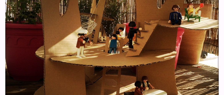 Activités enfant - créer une cabane avec un carton