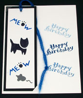 Example of stenciled bookmark