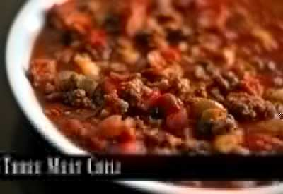 Three Meat Chili   Aunt Bee's Recipes