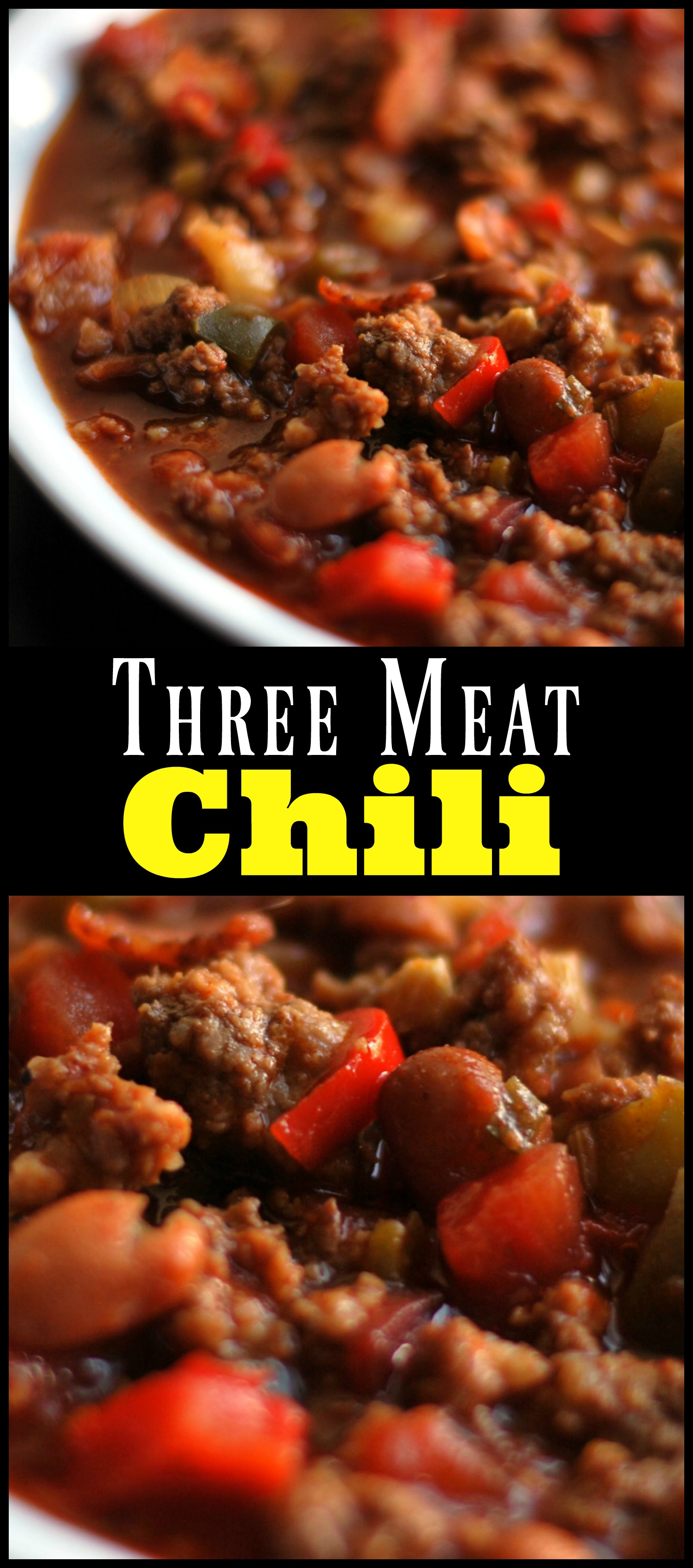 Three Meat Chili Aunt Bee S Recipes
