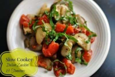 Slow Cooker Italian Zucchini & Tomatoes | Aunt Bee's Recipes