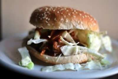 Pulled BBQ Turkey Sandwich