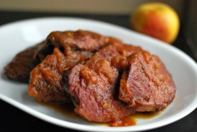 Slow Cooker Apple Butter Pork Chops | Aunt Bee's Recipes