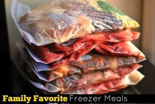 Family Favorite Freezer Meals Facebook labeled