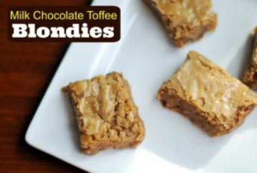 Milk Chocolate Toffee Blondies | Aunt Bee's Recipes