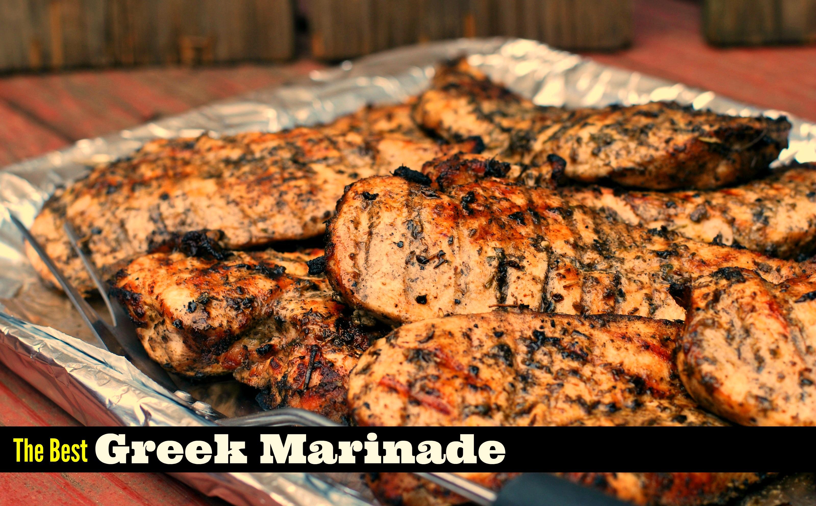 The Best Greek Marinade for Chicken, Steak & Pork