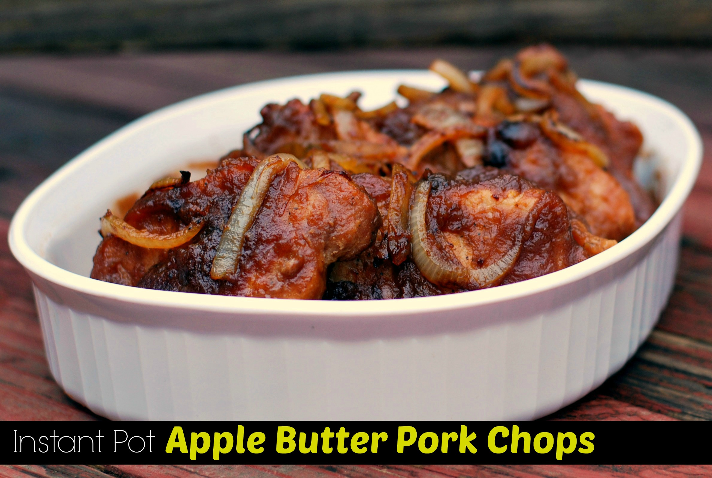 Instant Pot Apple Butter Pork Chops