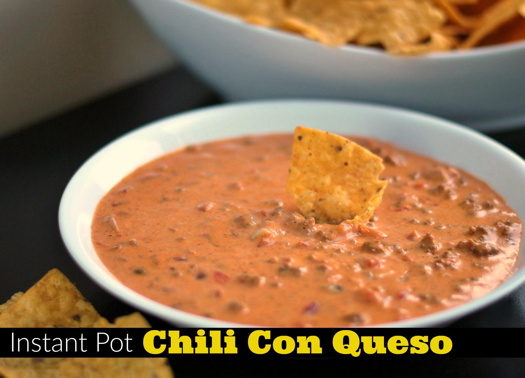 Instant Pot Chili Con Queso