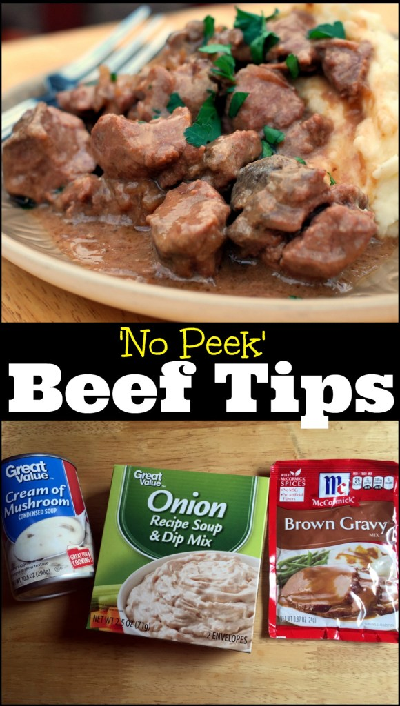 No Peek Beef Tips Amp Gravy Aunt Bee S Recipes