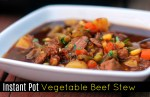 Instant Pot Vegetable Beef Stew
