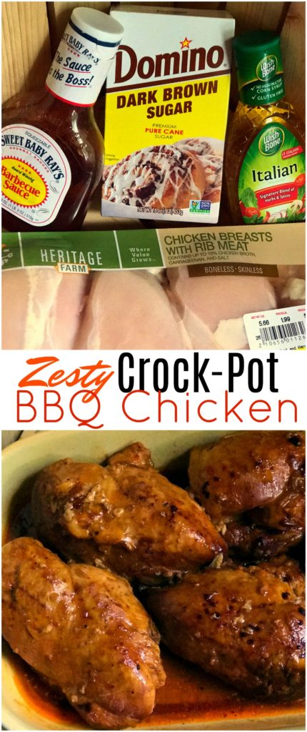 Easy Zesty Slow Cooker BBQ Chicken | Aunt Bee's Recipes