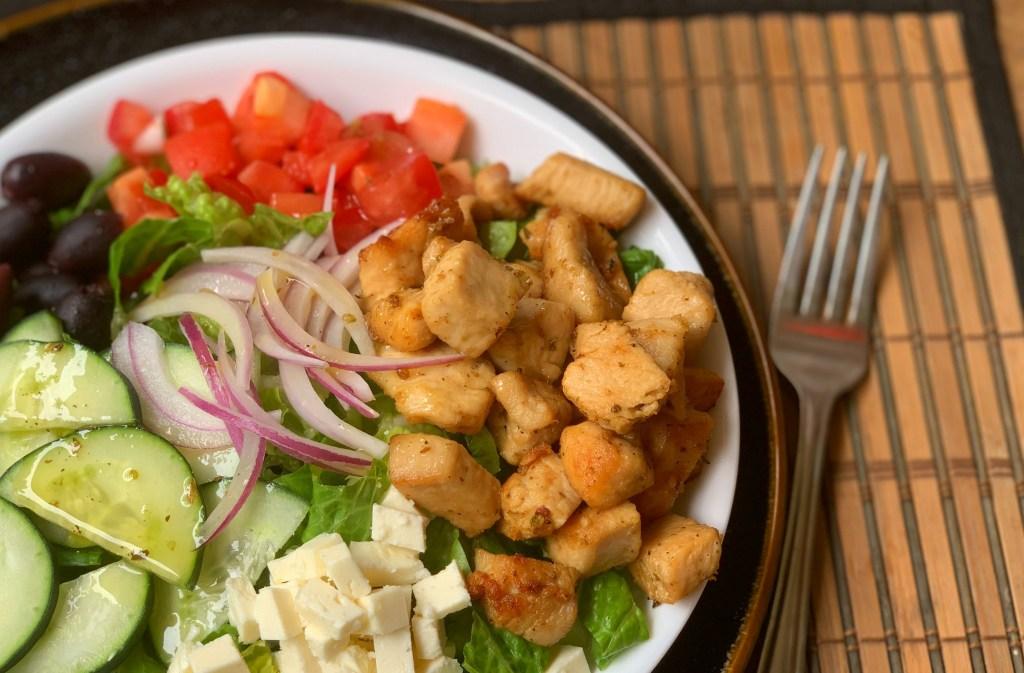 Greek Chicken Salad with Lemon Oregano Dressing | Aunt Bee's Recipes