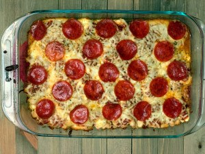 Low Carb Keto Pizza Chicken Casserole